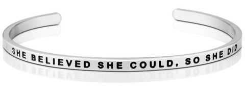 She_Believed_She_Could_So_She_did_bracelet_-_silver_large